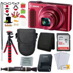 Canon PowerShot SX620 HS (Red)+32GB Card+Tripod+Case+Accessories