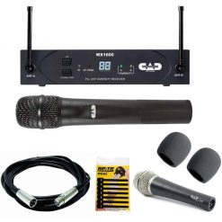 Cad Audio UHF Wireless Cardioid Dynamic Handheld Microphone System G Frequency Band