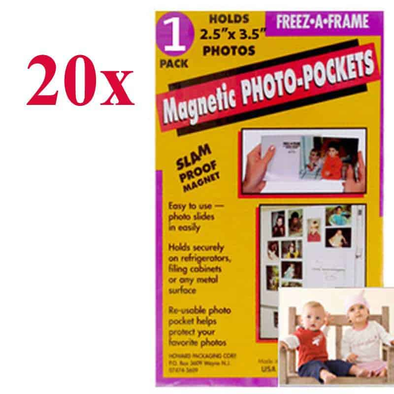 Photo4less Clear Magnetic Photo Frames For Refrigerator Wallet
