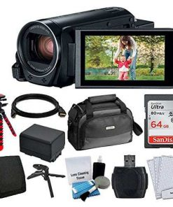 Canon VIXIA HF R82 Camcorder + Canon SC-A80 Soft Case + 64GB Memory Card + Extra BP-727 Battery Pack + Flexible, Wrappable Tripod + Card Reader + Screen Protectors + Cleaning Kit + Accessories