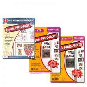 """Clear Magnetic Picture Frames, Set of 4""""x6"""", 5""""x7"""" & 8.5""""x11"""" Magnetic Photo Frames for Refrigerator, Freez-A-Frame"""
