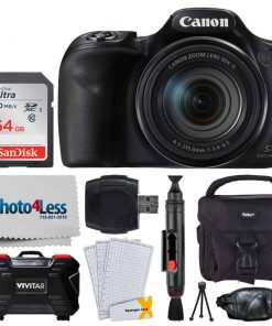 Canon PowerShot SX540 HS Digital Camera + Transcend 32GB Memory Card + Digital Camera Case + Full Tripod + USB Card Reader + Memory Card Wallet + Cleaning Kit + Hand Grip + Complete Accessory Bundle
