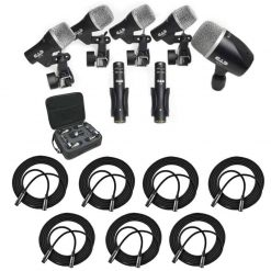 CAD Audio Stage7 Premium 7-Piece Drum Instrument Mic Pack With Vinyl Carrying Case & 7 - 25' XLR Cables