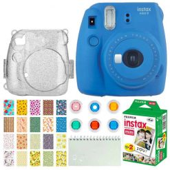 Fujifilm Instax Mini 9 Instant Camera (Cobalt Blue) Bundle
