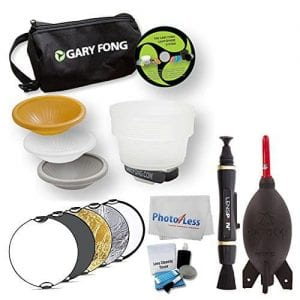 Gary Fong LSC-SM-WE Lightsphere Collapsible Wedding & Event Lighting Kit + Neewer Portable Multi Camera Lighting Reflector + Rocket Air Blaster + Cleaning Kit + Cleaning Pen & Cloth + Accessory Bundle