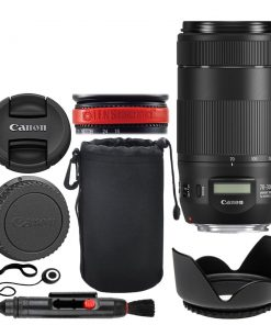 Canon EF 70-300mm f/4-5.6 IS II USM Lens + Neoprene Soft 8 Lens Pouch + 67mm Lens Hood + Lens Cleaning Pen + Lens Band, Stop Zoom Creep + Lens Cap Holder – Full Lens Accessory Bundle