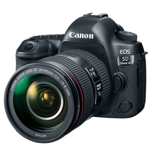 Canon EOS 5D Mark IV DSLR Camera + EF 24-70mm f/4L IS USM Lens + Accessories