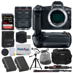 Canon EOS R Mirrorless Digital Camera + Canon RF 24-105mm f/4L is USM Lens + Deluxe Bundle Kit