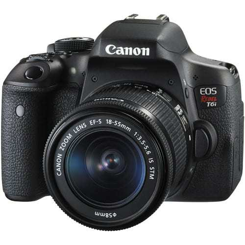 Canon EOS Rebel T6i DSLR Camera with 18-55mm Lens