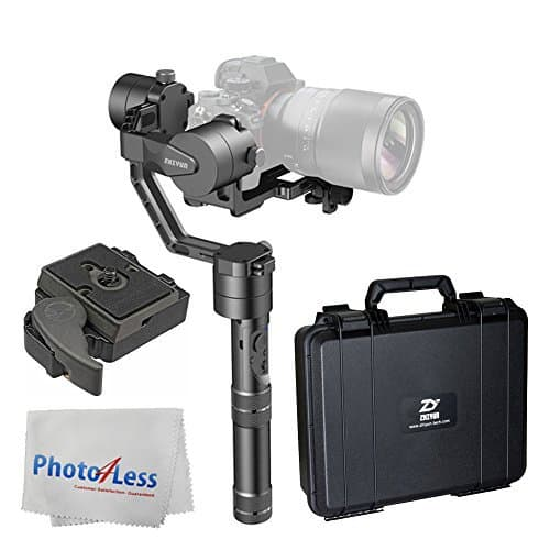 Zhiyun-Tech Crane 3-Axis Handheld Gimbal Stabilizer + Manfrotto 323 RC2 Rapid Connect Adapter with 200PL-14 Quick Release Plate + Photo4Less Cleaning Cloth + Ultimate Accessory Bundle
