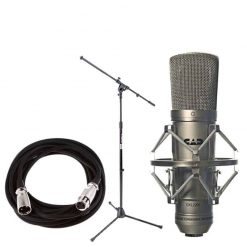CAD GXL2200 Cardioid Condenser Microphone with On Stage MS7701B Euro Boom Microphone Stand+ 20 foot XLR Mic Cable