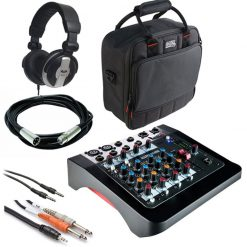 Allen & Heath ZED-6 6 Input Compact Analog Mixer + Gator Cases G-MIXERBAG + Headphone + XLR Mic Cable + Instrument Cable & Stereo Cable