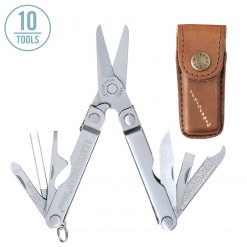 Leatherman Micra Heritage Multi-Tool 832557 with Leather Sheath (Stainless)