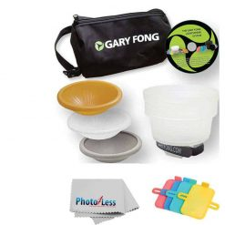 Gary Fong Lightsphere Collapsible Wedding & Event Lighting Kit With 4-piece Color Gel Set + Cleaning Cloth For CANON 540EX 420EX 550EX 430EX 580EX 580EX II 430EX II 270EX 380EX 320EX 600EX-RT