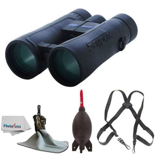 SNYPEX 10×50 Knight ED Water Proof Roof Prism Binocular With Case + Harness + Rocket Air Dust Blaster + Microfiber Spudz Cloth & Cleaning Cloth (10×50)