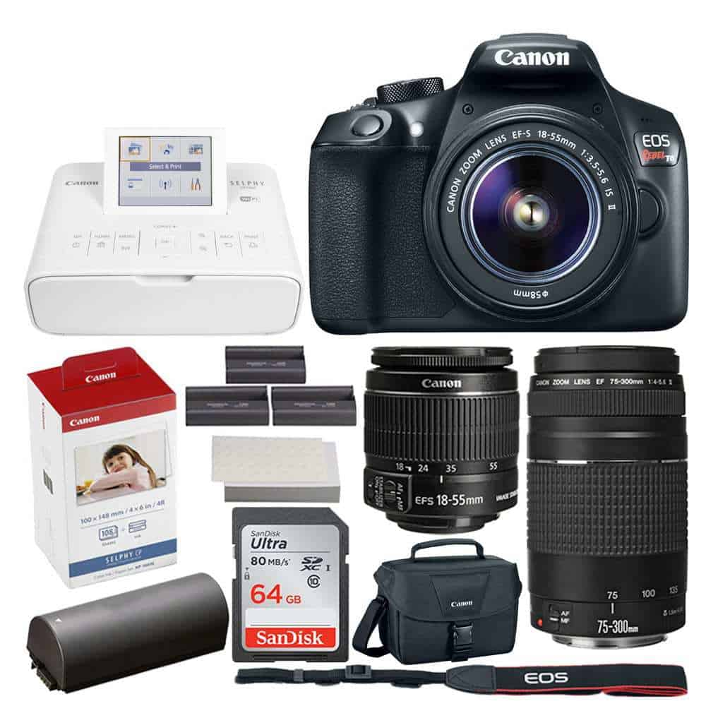 Photo4less Canon Eos Rebel Dslr T6 Camera Body Canon Ef S 18 55mm F 3 5 5 6 Is Ii Lens Canon Eos Shoulder Bag 100es Black Ultra Sdxc 64gb