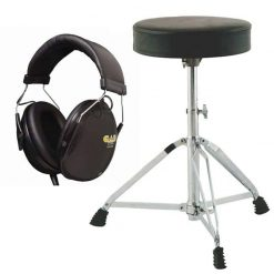 On-Stage MDT2 Double-Braced Drum Throne + CAD Audio DH100 Drummer Isolation Headphones