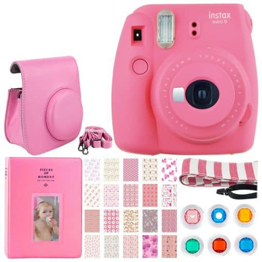 Fujifilm Instax Mini 9 Instant Camera – Flamingo Pink