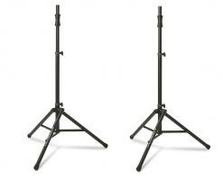 Ultimate Support TS-100B Air-Powered Series Lift-assist Aluminum Tripod Speaker Stand with Integrated Speaker Adapter