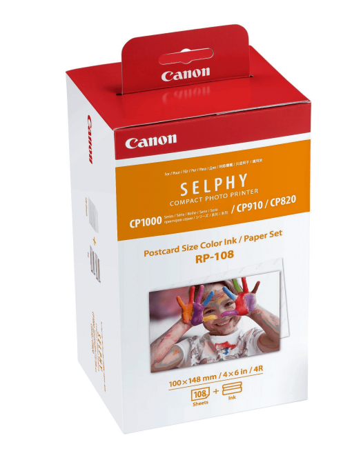 Canon RP-108 High-Capacity Color Ink/Paper Set for SELPHY CP910 Printer (2-Pack)