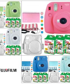Fujifilm Instax Mini 9 Instant Camera + Twin Pack Film (60 Exposures) + Case + Album + Lens Filters + Strap – Full Kit