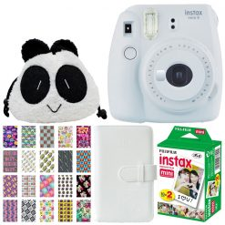 Fujifilm Instax Mini 9 Instant Camera - Smokey White - Kids Deluxe Bundle