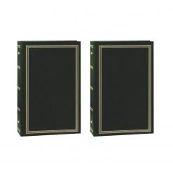 "Pioneer Photo Album 4""X6"", 3-Up, 504 Photos Pocket 3-Ring Binder Album Hunter Green x 2"