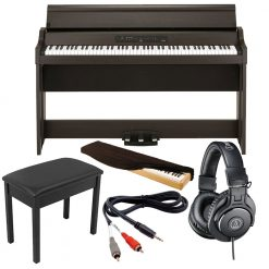 Korg G1 AIR Digital Piano Brown With Bluetooth ,Hammer Action, 88 Keys ,Built in Speaker ,Polyphony 120  Voice