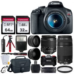 Canon EOS Rebel T7 DSLR Camera + 18-55mm & 75-300mm Lens Kit