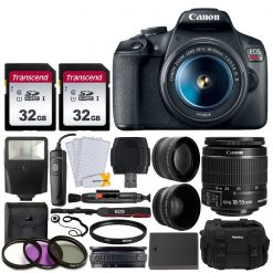 Canon EOS Rebel T7 Camera & 18-55mm Lens + Accessory Kit