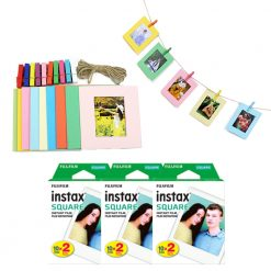 FUJIFILM instax SQUARE Instant Film (60 Shots) + Hanging Photo Frames