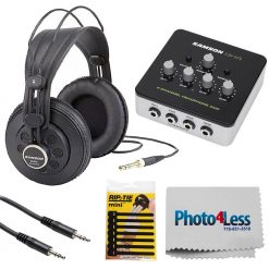 Samson Studio Reference Headphones + Accessories