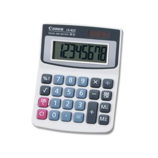 Canon LS-82Z Handheld Calculator (5 Pack) + Cleaning Cloth
