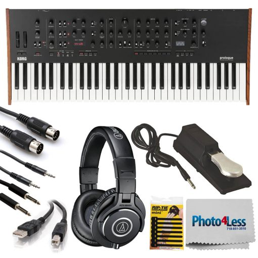 Korg Prologue – Polyphonic Analog Synthesizer (16-Voice) + High-Quality Accessories