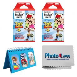 Fujifilm Instax Mini Film Toy Story 4 (20 Exposures) + Album + Cleaning Cloth