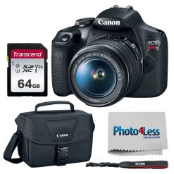 Canon EOS Rebel T7 DSLR Camera + EF-S 18-55mm Lens + Acc.