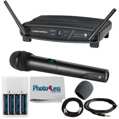 Audio-Technica System Handheld Wireless Microphone System + High-Quality Accessories