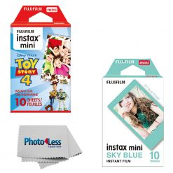 Fuji Instax Instant Film Toy Story 4 (10 Exposures) + Sky Blue (10 Exposures)