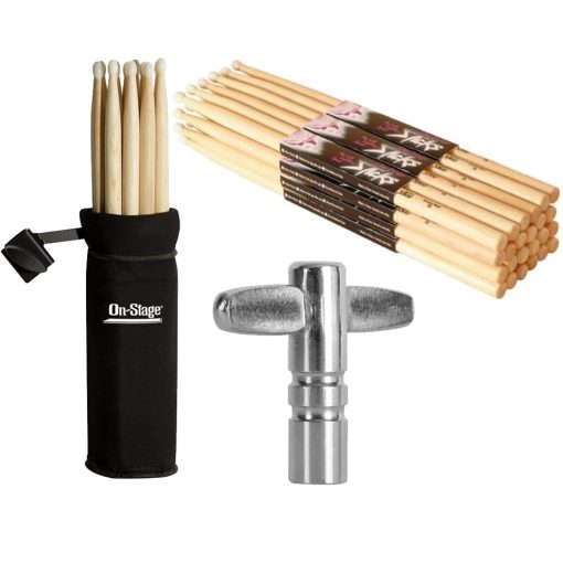 On Stage Maple Wood 7A (12 pair) + Manufacturer High-quality Accessories