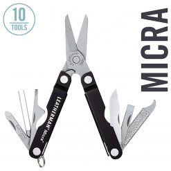 Leatherman - Micra, Keychain Size Multitool, Stainless Steel, Black