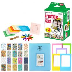 Fujifilm Instax Mini Twin Pack Instant Film + Frames + Stickers + Albums