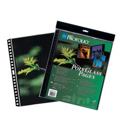 """Itoya ProFolio PolyGlass Pages 9""""x12"""" 10 sheets"""