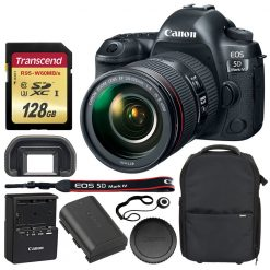 Canon EOS 5D Mark IV DSLR Camera + EF 24-105mm Lens + Accessories