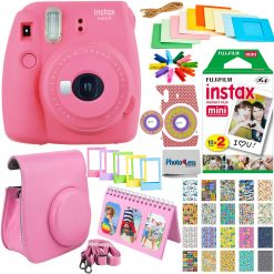 Fujifilm Mini 9 Camera + 20 Film + Case + Album Deluxe Pink Accessory Bundle