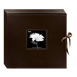 Pioneer 12x12 Memory Book Box,Photo Album Brown With Ribbon Closure