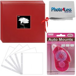 Details about  Pioneer Memory Photo Album Box Stylish Red + 5 Refill Pages + Adhesive Mounts