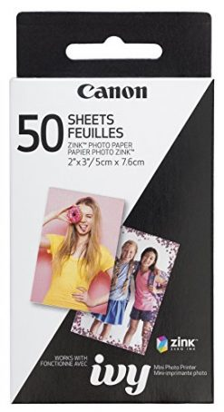 Canon ZINK Photo Paper Pack, 50 Sheets (3215C001)