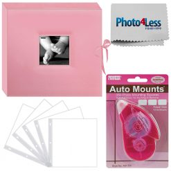 Pioneer Memory Photo Album Box Baby Pink+ 5 Refill Pages + Adhesive Mounts