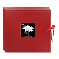 Pioneer 12x12 Memory Book Box,Photo Album Stylish Red With Ribbon Closure
