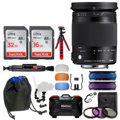 Sigma 18-300mm f/3.5-6.3 DC MACRO OS HSM Contemporary Lens for Canon EF + Kit